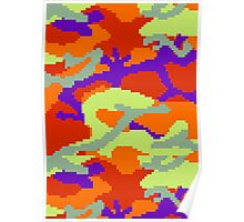 8-bit Woodland Camo (Samus) Poster