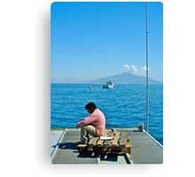 Contemplating Vesuvio Canvas Print