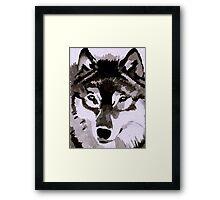 Wolf Ink. Framed Print