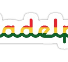 Illadelph Logo Sticker (Rasta) Sticker