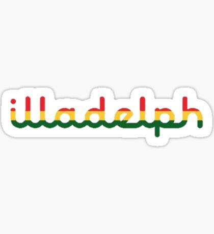 Illadelph Logo Sticker (Rasta) Sticker