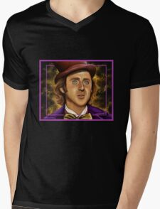 The Wilder Wonka Mens V-Neck T-Shirt