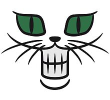 Grinning Monster cat face by Style-O-Mat