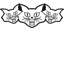 Grinning evil Monster cats by Style-O-Mat