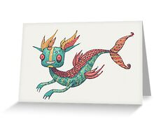 The Fish Dragon Greeting Card