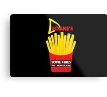 Some Fries Motherfucker - Doakes/Dexter Metal Print