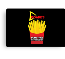 Some Fries Motherfucker - Doakes/Dexter Canvas Print