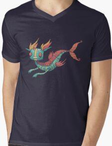 The Fish Dragon Mens V-Neck T-Shirt
