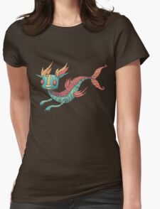 The Fish Dragon Womens Fitted T-Shirt