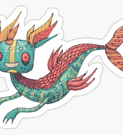 The Fish Dragon Sticker