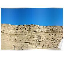 desert sand dune wind erosion Poster