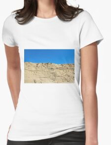 desert sand dune wind erosion Womens Fitted T-Shirt