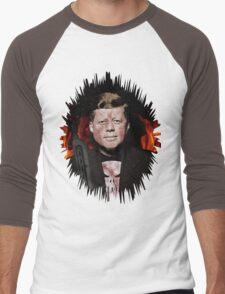 The Punisher + JFK Mash Up Men's Baseball ¾ T-Shirt