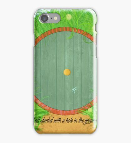 It All started with a hole in the ground iPhone Case/Skin