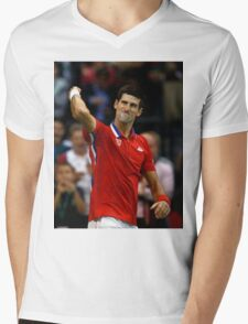 Novak Djokovic Mens V-Neck T-Shirt