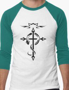 Black Fullmetal Alchemist Flamel Men's Baseball ¾ T-Shirt
