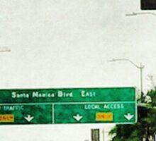 """""""Avenue of the Stars"""" Sticker"""