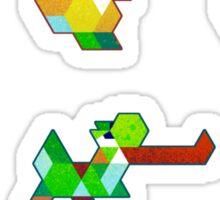 Trixel Yoshi Sticker