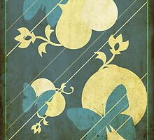 Deep Blues Butterflies by CastleDownpour