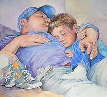 father and son by Carol McLean-Carr