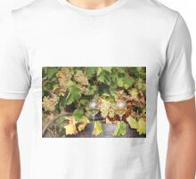 white grape and wine autumn scene Unisex T-Shirt
