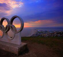 Portland Olympic Sunset by ImageMonkey