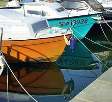 Boats Moored On Cap Ferrat by Fara
