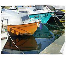 Boats Moored On Cap Ferrat Poster