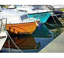 Boats Moored On Cap Ferrat Photographic Print