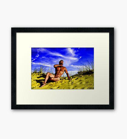 Dune Nude Hunk Framed Print
