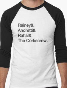 Laguna Seca Typography Men's Baseball ¾ T-Shirt