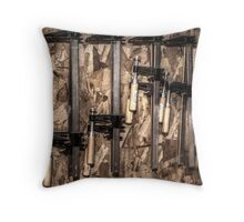 4 Clamps Throw Pillow