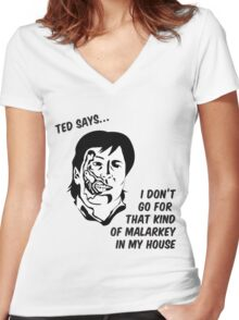 Ted says Women's Fitted V-Neck T-Shirt