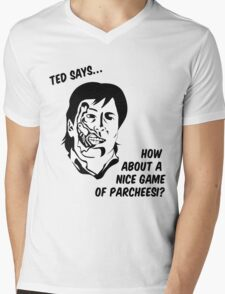 Ted says Mens V-Neck T-Shirt