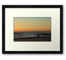 Early Morning Fisherman Framed Print