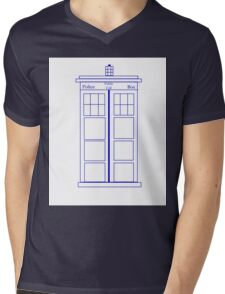 Tardis Shirt Mens V-Neck T-Shirt
