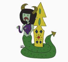 Snake Lady  One Piece - Short Sleeve