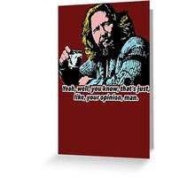 The Big Lebowski and Philosophy 1 Greeting Card