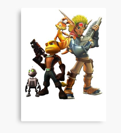 Jak & Dexter and Ratchet & Clank Metal Print