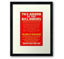 Doctor Holmes and the Hound of the Beladons Framed Print