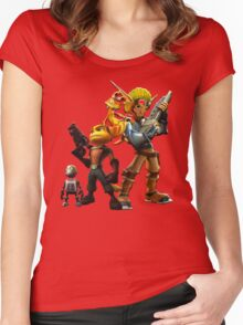 Jak & Dexter and Ratchet & Clank Women's Fitted Scoop T-Shirt
