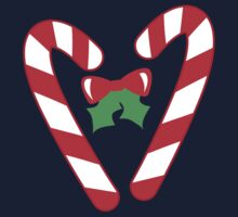 Christmas candy canes with a bow Kids Tee