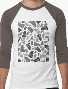 50 Shades of Grey Daleks - Doctor Who - DALEK Camouflage Men's Baseball ¾ T-Shirt