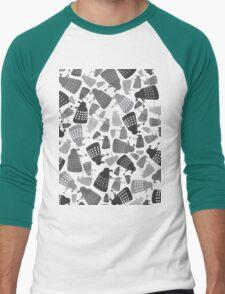 50 Shades of Grey Daleks - Doctor Who - DALEK Camouflage Men's Baseball ¾ T-Shirt