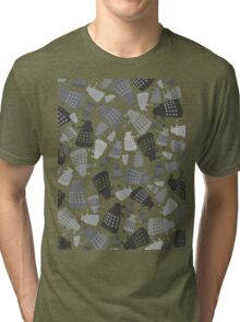 50 Shades of Grey Daleks - Doctor Who - DALEK Camouflage Tri-blend T-Shirt