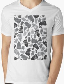 50 Shades of Grey Daleks - Doctor Who - DALEK Camouflage Mens V-Neck T-Shirt