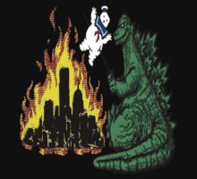 Godzilla & Stay Puft by Fabisvar