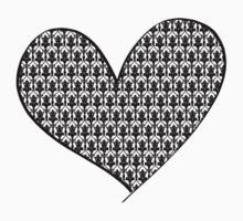 221B Wallpaper Heart Kids Clothes