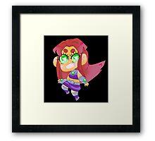 Teen Titans    Starfire Framed Print