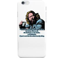 The Big lebowski and the philosophy 2 iPhone Case/Skin